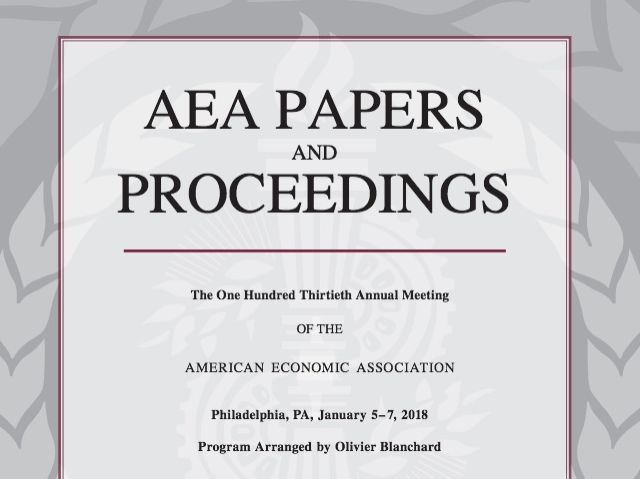 1.American Economic Association Papers Proceedings
