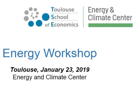 Workshop on energy economics at the Toulouse School of Economics