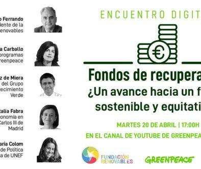 Greenpeace y la Fundación Renovables