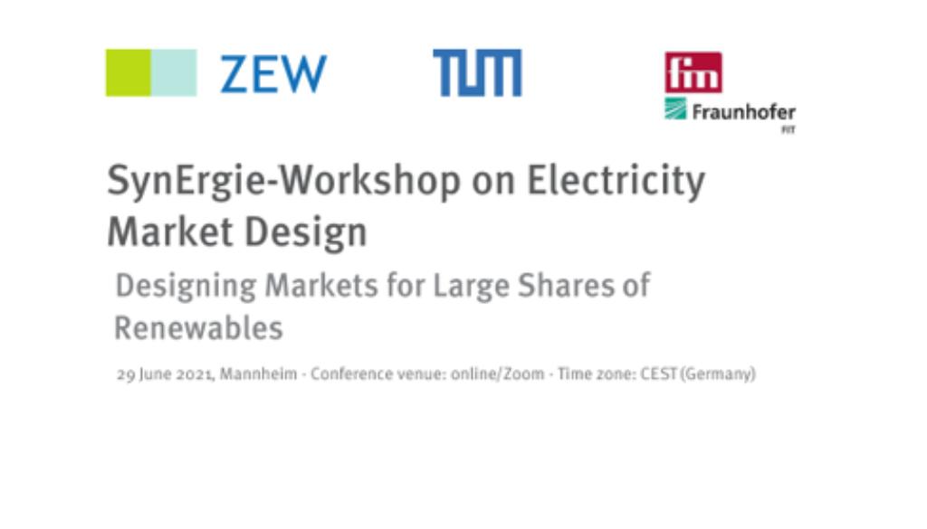 Electricity Market Design1